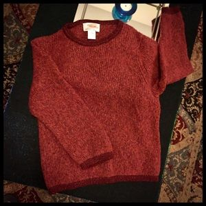 Child's Red Sweater - 80% Merino Wool